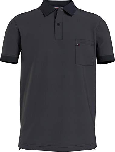 Tommy Hilfiger Structured Pocket Regular Polo Camisa, Cielo del Desierto, M para Hombre