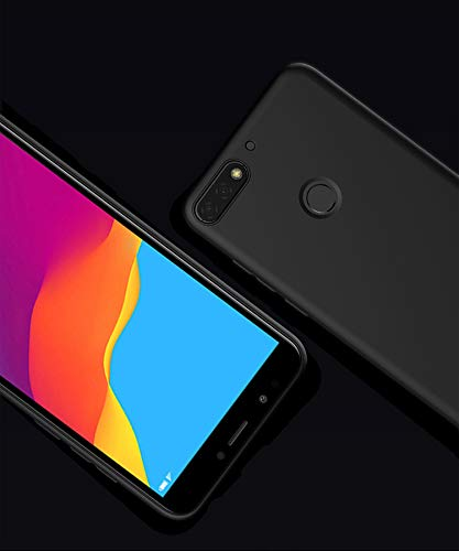 Olliwon Huawei Y7 2018 Hülle, Dünn Leichte Schutzhülle Schwarz Silikon TPU Bumper Case Cover für Huawei Y7 2018 - 3