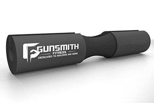 Gunsmith Fitness Next Gen Langhantel Squat Pad – rutschfestes Schaumstoff-Polster für Gewichtsverteilung bei Kniebeugen, Ausfallschritte und Hüftbeugen - Komfortabler Nacken- & Schulter-Schutz