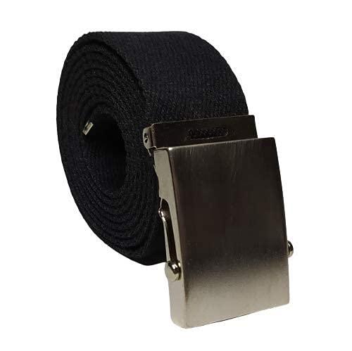 NN Cintura con fibbia scorrevole tipo militare . (nero nikel)