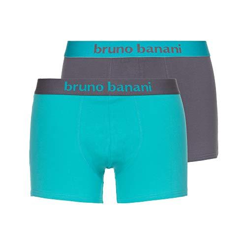 bruno banani Herren Short 4er Pack Flowing Boxershorts, Mehrfarbig (Mint//Grau 4005), Medium (Herstellergröße: M)