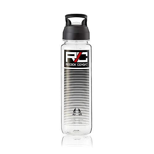 Reebok Unisex's RABT-13006CCL Botella de agua deportiva (combate), transparente, 1000 ml