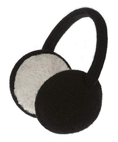 Knolee Unisex Classic Fleece Earmuffs Foldable Ear Muffs Winter Accessory Outdoor EarMuffs (One size, Black B)