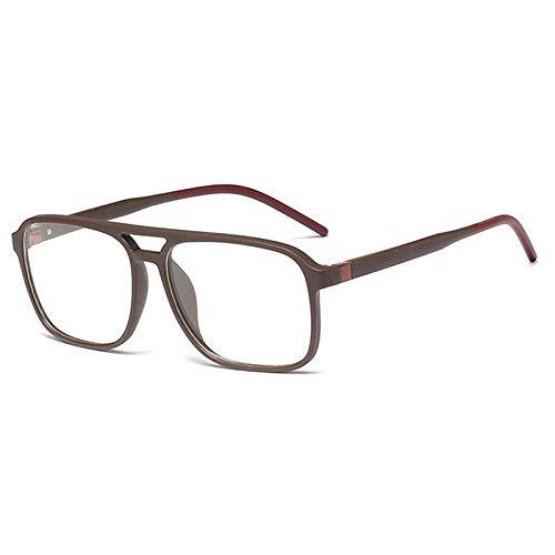 Gafas De Sol Gafas De Bloqueo De Luz Cuadrada Azul para Hombres, Mujeres, Marco Óptico, Computadora, Anti Reflejo, Protección UV, Anteojos-C4_Brown