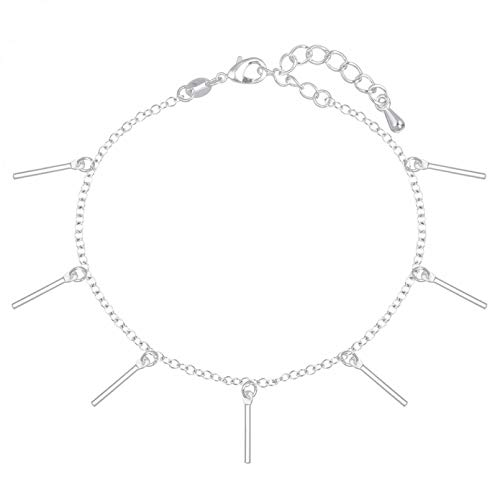 N/A Bracelet jewelry Gift Bar Square Drop Pendant Chain Bracelet Bangle Birthday Jewelry Girls Women Christmas Charm Valentine's Day present