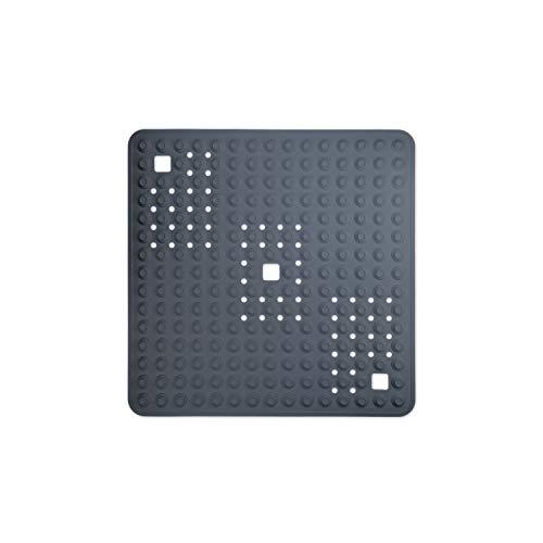 WohnDirect Duschmatte Grau/quadratisch: 60x60 cm • sehr rutschfest & sehr robust • Antirutschmatte für Dusche oder Badewanne • waschbar bei 60°C