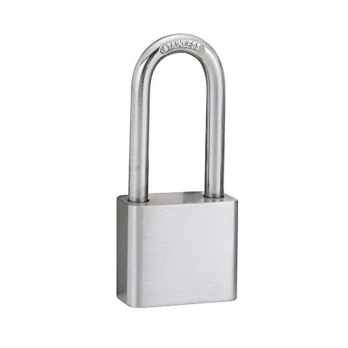 QQYYY Padlocks with Keys, Heavy Duty Lock Weatherproof Padlock, Padlocks Long Lock Heavy Duty Key Padlock Weatherproof Locks for Garden Shed Garage