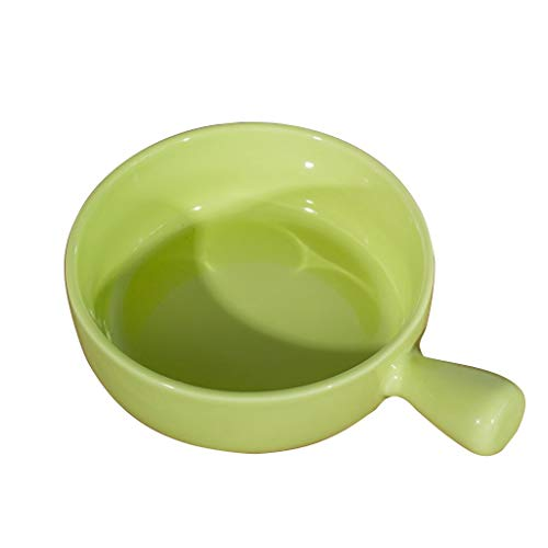 Hotel en tafelzilver Gekleurde Bowl, kuip met handgreep Soup Pot Restaurant Salad kaasyoghurt Bowl High Quality Kom van het Porselein Modern tafelgerei 6inch Ice Cream Bowls-CDqing (Color : Green)