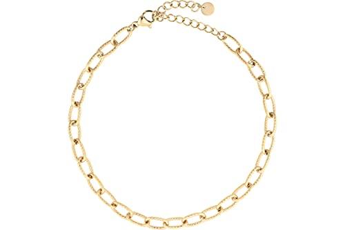 IKITA - Cavigliera con maglie striate, in oro