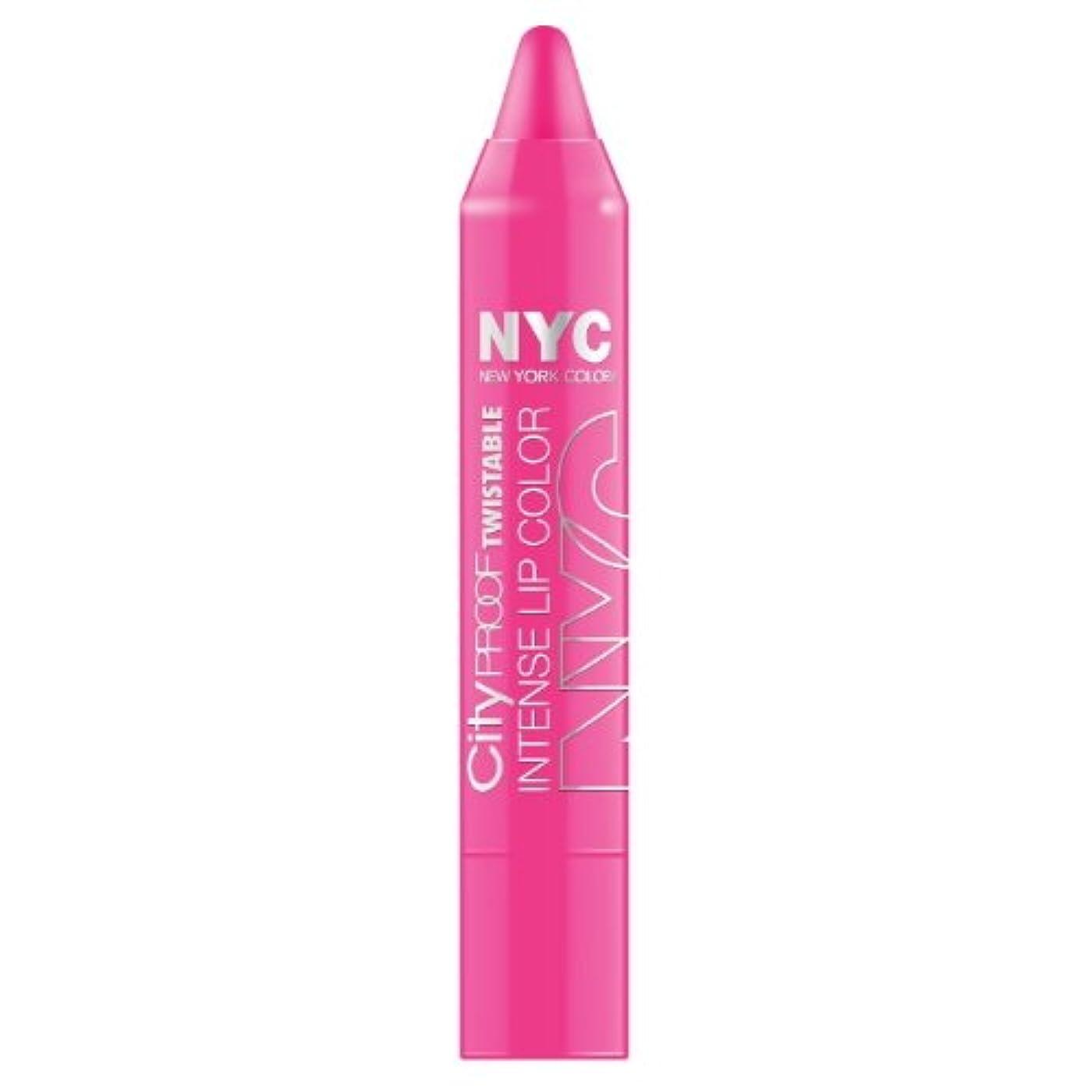 スポークスマンあなたが良くなります電極(3 Pack) NYC City Proof Twistable Intense Lip Color - Fulton St Fuchsia (並行輸入品)