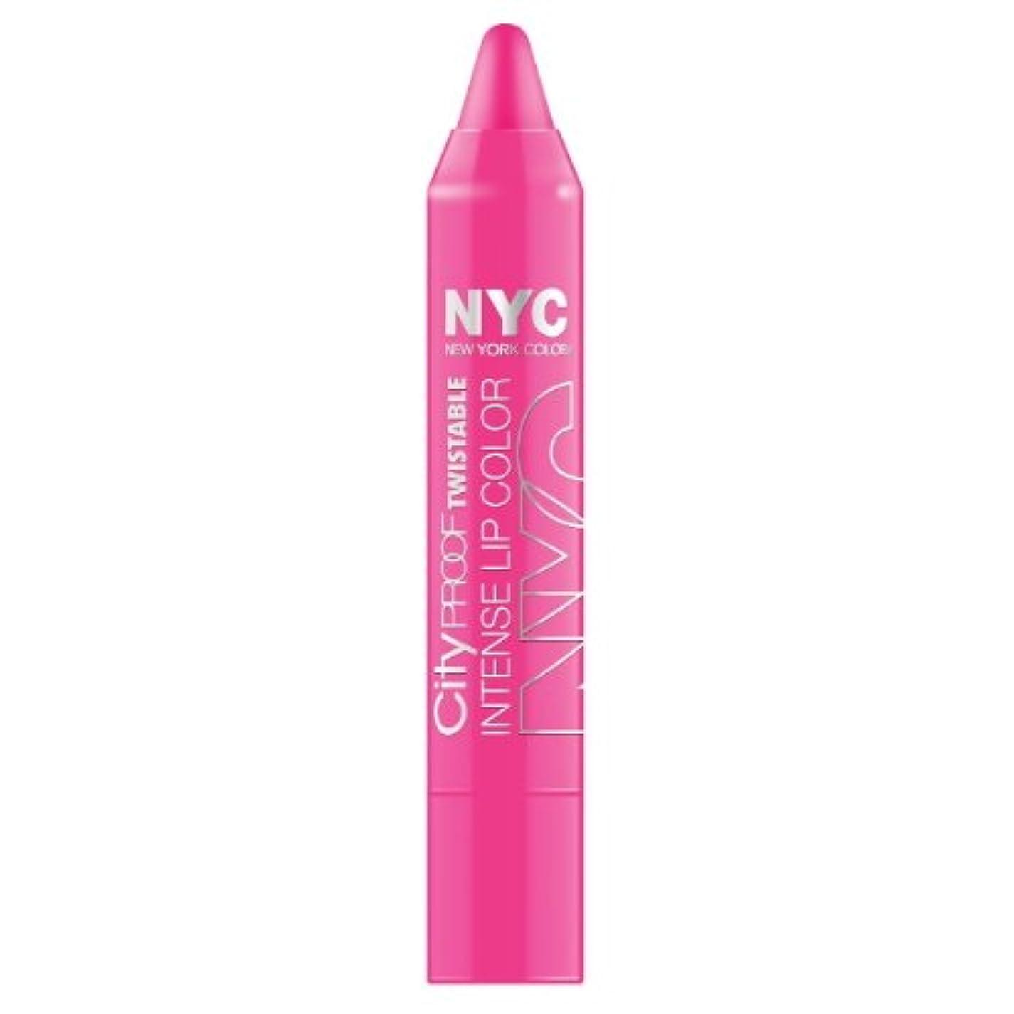 倉庫ズボン地中海(3 Pack) NYC City Proof Twistable Intense Lip Color - Fulton St Fuchsia (並行輸入品)