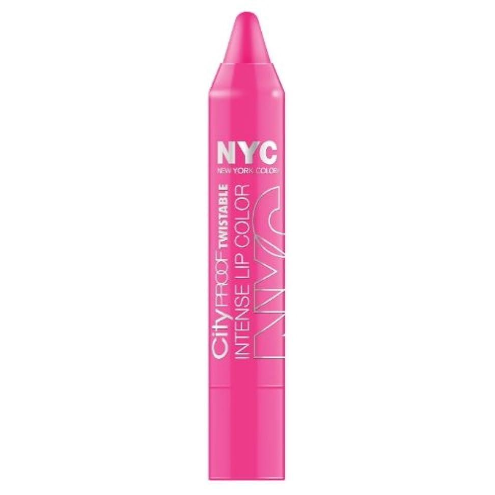 鷲ではごきげんようめまい(6 Pack) NYC City Proof Twistable Intense Lip Color - Fulton St Fuchsia (並行輸入品)