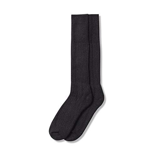 The Cambridge Sock Company Mohair Socken für Herren & Damen, luxuriös, bequem, weich, warm, für den Garten, Landwirtschaft, Welly, Sommer, Wandersocken, Schwarz – Größe L