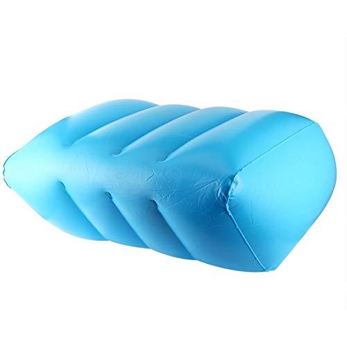 Eosnow Almohada Inflable para piernas Buen Sellado Válvula de Aire de Doble Capa Material de PVC Almohadilla para piernas para relajar presión en el Cuello, Hombros y Espalda(Azul)