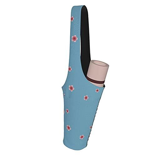 Kteubro Pink Raining Blossoms - Esterilla de yoga para llevar bolsa multifuncional, bolsa de asas de yoga, set de regalo de yoga, kit de iniciación de yoga