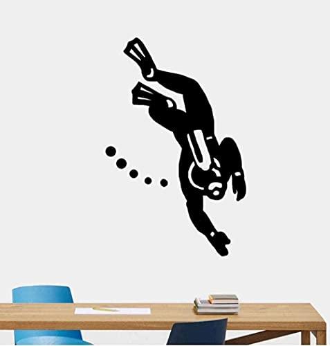 TJVXN Etiqueta de la Pared Mural Calcomanía 39X61Cm Moda Buceo Etiqueta de la Pared Sala de Estar Dormitorio PVC Gimnasio Nadador Deportes Extremos