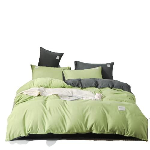 YYSZM Impresión Simple, Textura Suave, Cómoda Que Absorbe El Sudor, Adecuada para Cuatro Tipos De Ropa De Cama En El Dormitorio Principal Y El Dormitorio De Invitados 220x240cm Green