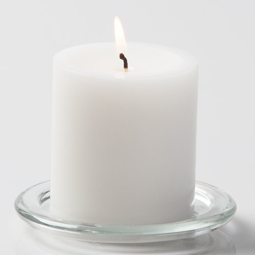 Richland 3'X 3' Pillar Candles White Unscented Set of 12