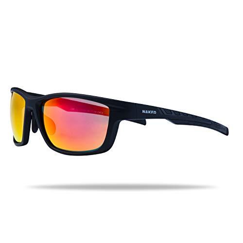NAKED Optics Sportbrille Rush (Fullframe Black/Lens Red)