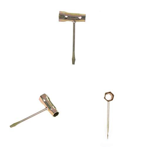 IGOSAIT 1pcs T-Llave cadena de sierra Llave for MOTOSIERRA 13 * 19 mm Combinación de herramientas de llave de mano Reparar