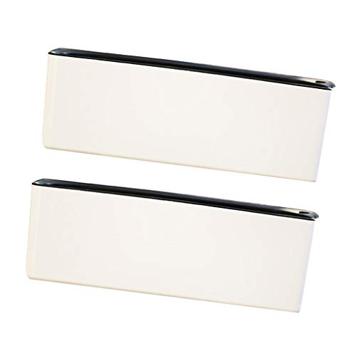LOVIVER White Rectangular Self Watering Planter for Houseplant & Herb, Pack of 2
