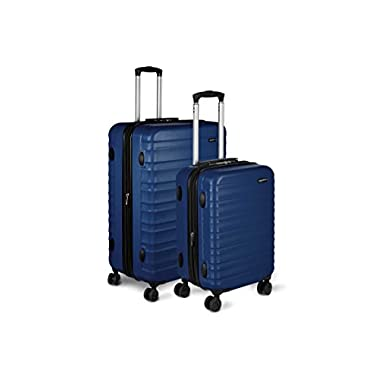 AmazonBasics Hardside Spinner Luggage - 2 Piece Set (20 , 28 ), Navy Blue