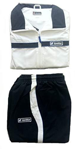 Lotto - Tuta da tennis Force Junior, per ragazzi, taglia XL, colore: Bianco/Blu