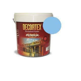 PINTURA DE PAREDES interior y exterior. DECORTEX LISO PREMIUM. Pintura blanca y colores. Pintura ideal para monocapa. Pintura lavable. Pintura acrílica al agua. 23 y 6 kg (14 y 4 lt). (azul cielo 4lt)