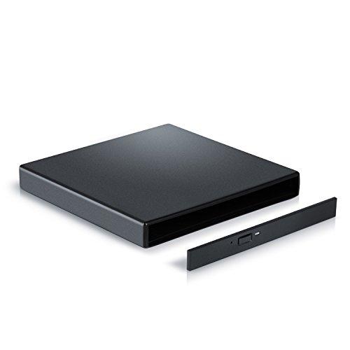 CSL - USB 2.0 Slim Line externes Laufwerksgehäuse mit SATA Anschluss - Leergehäuse extern für optische Laufwerke wie CD DVD Combo Brenner mit S-ATA Schnittstelle - Plug and Play