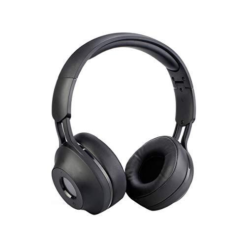 Retekess TR104 Walkman Headphone Radio FM Headset Radio Digital Receiver FM Hearing Protector Earmuff Support AUX Input Battery Powered(Black)