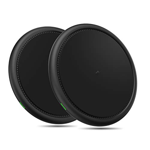 Bysionics Wireless Charger,2 Pack 10W Wireless Charging Compatible with iPhone Xs/XS MAX/XR/X/8/8Plus,Galaxy S7/S8/S9, and More [No AC Adapter] (Black)