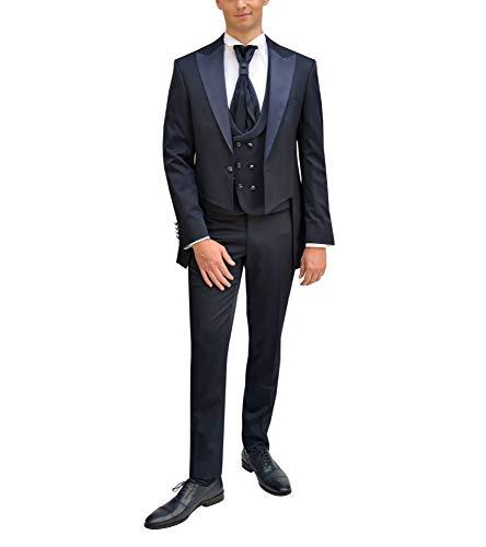 MMUGA - Vestito da matrimonio da uomo Blu scuro 6 mesi