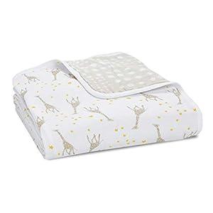 aden + anais Dream Blanket, Boutique Muslin Baby Blankets for Girls & Boys, Ideal Lightweight Newborn Nursery & Crib Blanket, Unisex Toddler & Infant Bedding, Shower & Registry Gift, Giraffes