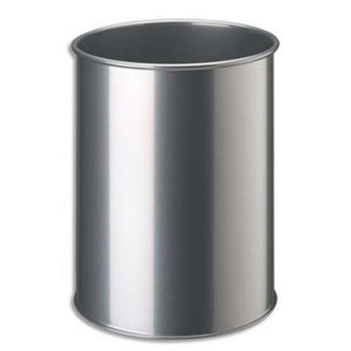 Corbeille en métal, Dim D26 x H 31,5 cm -PEGANE-