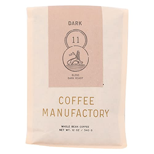Coffee Manufactory, Coffee 11 Dark Blend Whole Bean, 12 Ounce