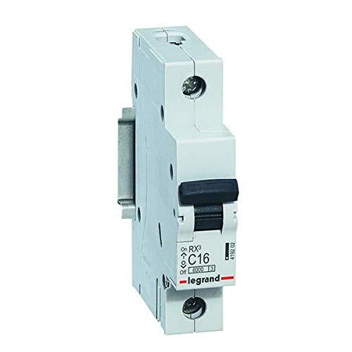 Legrand, Leitungsschutzschalter C16 A, Sicherungsautomat C16 A/ 30mA, C-Charakteristik 30mA 1-polig 230/400 V, 12 Stück, 419202