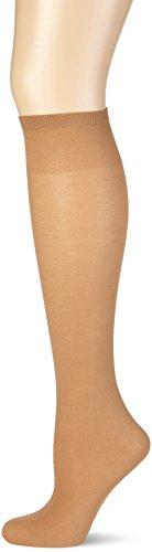 Nur Die Damen Knie Cotton Sensation Kniestrümpfe, 60 DEN, Braun (amber 230), One size