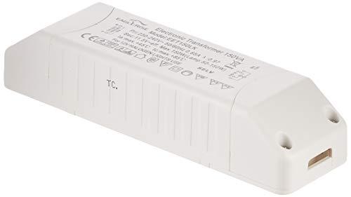 Transmedia ET-150 Halogen-Trafo 230/12V/50-150W, Überlastungsschutz, Temperatursicherung, nicht dimmbar, 160 x 46 x 30 mm