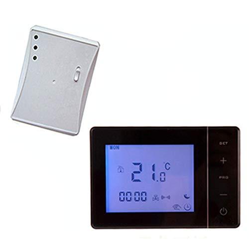 LOVIVER Manuelle Ziffern Programmierbarer Touchscreen Zentralheizungs Thermostat, 30 M Fernbedienung Für Zuhause, NTC Sensor, 2 X AA Batterie - Schwarz