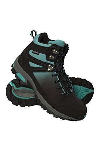 Mountain Warehouse Botas Impermeables Retrieve para Mujer - Botas de Montaña Ligeras, Zapatillas Transpirables para Mujer, Zapatillas de Verano - Calzado para Viajar Verde Agua 39