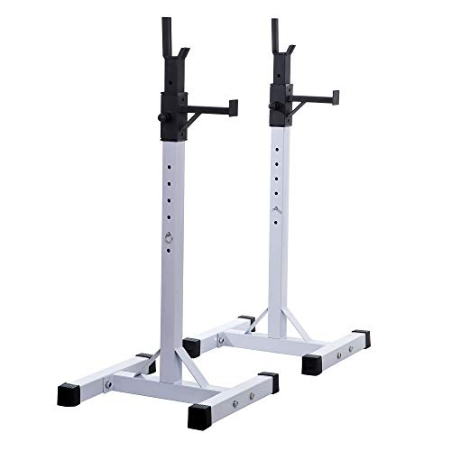 homcom Supporto bilanciere Porta Manubri per Pesistica Fitness Max 200kg