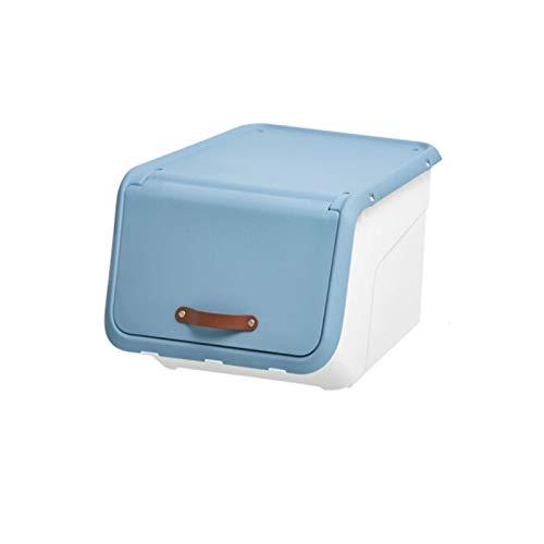 YUMEIGE Caja de almacenamiento de cosméticos Caja de almacenamiento de apertura frontal, gabinete de almacenamiento de juguetes para niños, caja de almacenamiento de flip-top, caja de almacenamiento d