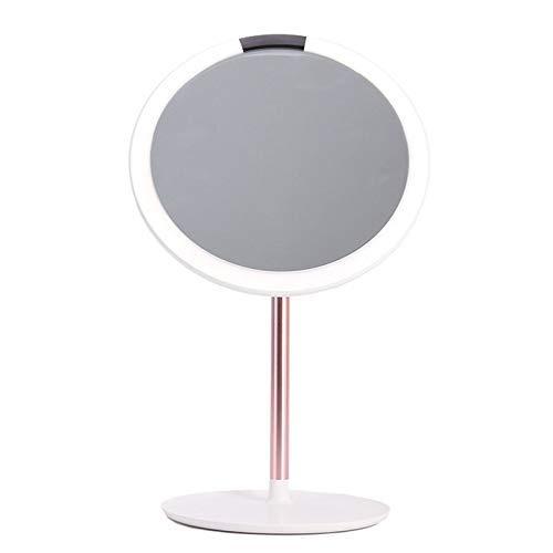 ZGQA-GQA Encendidos De la Vanidad Espejo de Maquillaje, Luces LED de la Pantalla táctil y de Carga USB Soporte Ajustable 180 Grados for la encimera Maquillaje cosmético Espejo