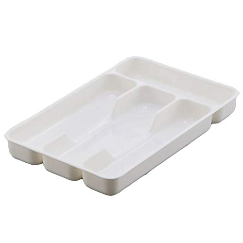 DYB Lagerung Besteck Organizer Box - Küchenschublade Organizer Trennung Finishing Aufbewahrungsbox Umweltfreundliche PP-Behälter Löffel Messer und Gabel Besteck geordnete Anordnung (Color : WT 2pc)