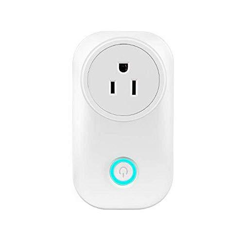 Enchufe inteligente con control Smart Plug, Mini Wifi Outlet Compatible con Alexa, Google Home e IFTTT, no requiere concentrador, controle a distancia sus electrodomésticos desde cualquier lugar