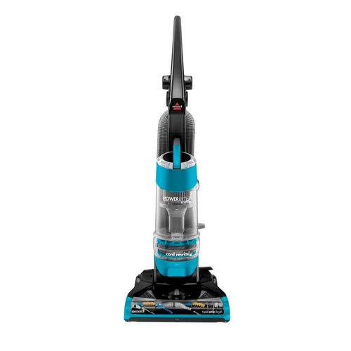 Bissell Powerlifter Rewind Upright Vacuum with Multi-Cyclonic System, Triple Action Brush Roll, AS Shown