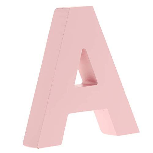 Unbekannt Holz-Buchstaben, 26 Buchstaben, Festzelt-Buchstaben, Wandschild, Türschild, A-Z, für Kinderzimmer, Kinderzimmer, Dekoration, Rosa (A)