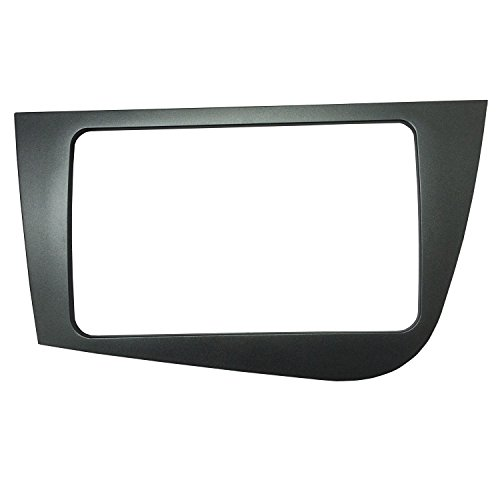 MAXIOU Doble Din Radio de Coche Fascia para SEAT LEON Placa Frontal Estéreo Panel Panel Dash Mount Trim Kit Adaptador Bisel facia