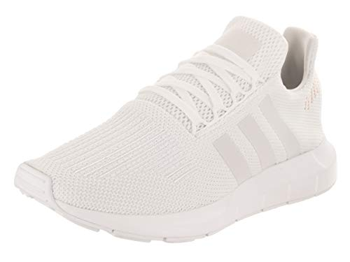 adidas Originals womens Swift Run Sneaker, Footwear White/Crystal White/Footwear White, 8.5 US
