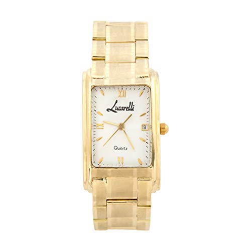 Reloj Oro 18 KILATES Caballero con Dos AÑOS DE Garantia Cierre Oculto - Calendario - Esfera en Color Blanco - Medidas de la Caja del Reloj: 22x36mm